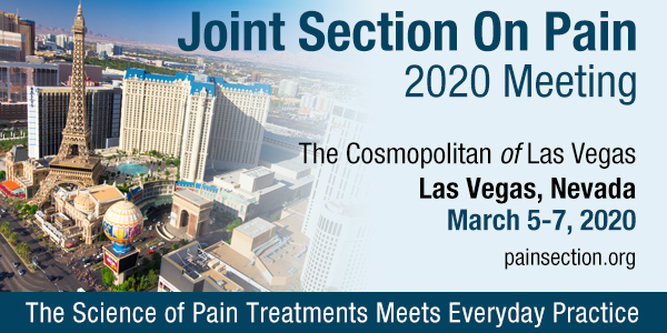 Joint Section on Pain 2020 Meeting